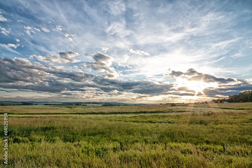 Obraz na plátně Dusk on the Prairie