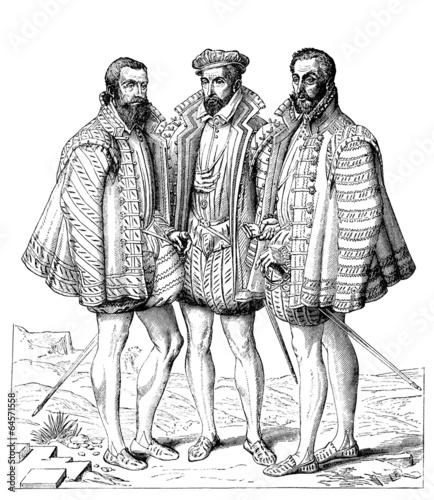 Fotografia 3 Aristocratic Gentlemen - 16th century