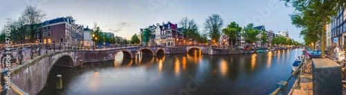 Fototapeta premium Kanał Keizersgracht w Amsterdamie, Holandia.