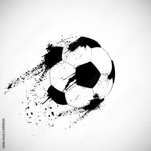 Canvas Print Grunge soccer ball