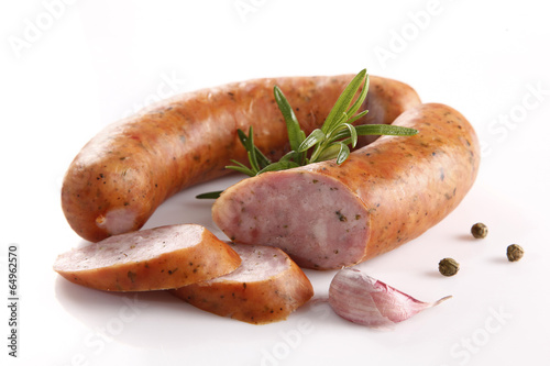 Sausage with spices Fototapeta