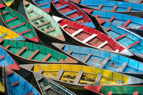Valokuva Colorful boats