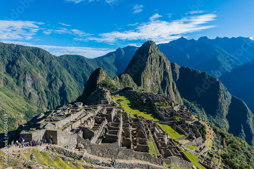 Machu Picchu ruins peruvian Andes  Cuzco Peru