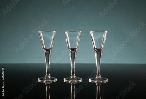 Canvas Print Three shot glasses