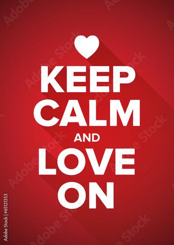 Canvas Print Keep calm and love on