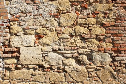 ancient exterior fortress wall