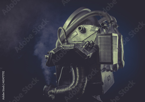 Obraz na plátně Scifi, man with robotic armor, Starfighter