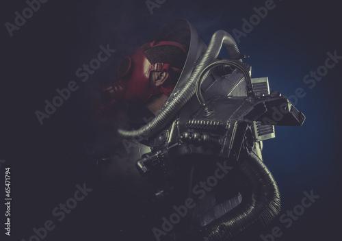 Wallpaper Mural Scifi, man with robotic armor, Starfighter