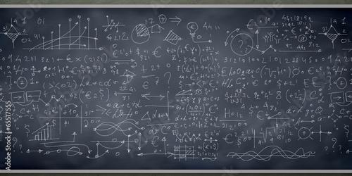 Photo Sketch on blackboard
