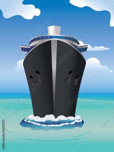 Fototapeta Cruise Liner in the Sea