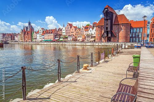 The medieval port crane over Motlawa river in Gdansk, Poland