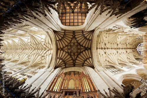 Fototapeta Vaulted ceiling of Winchester Cathedral