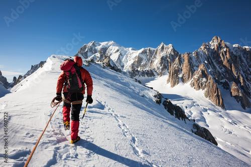 Concepts Alpinisme: Enterprise, diligence, le travail d'équipe Poster Mural XXL