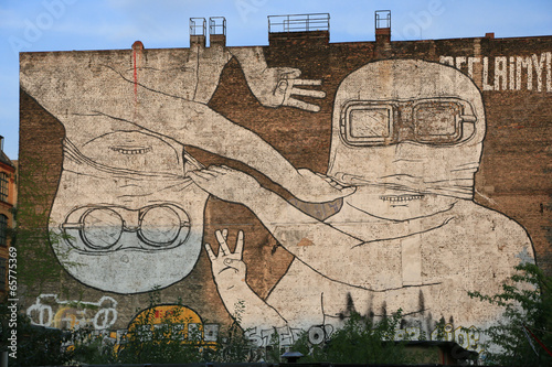 Lerretsbilde Graffiti in Berlin Kreuzberg