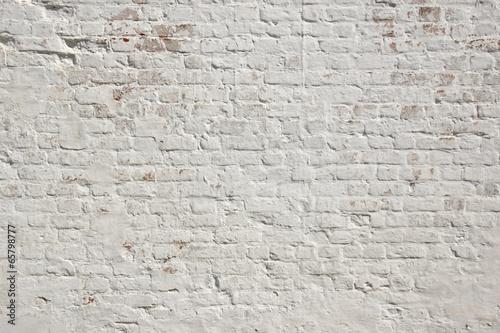 Carta da parati White grunge brick wall background