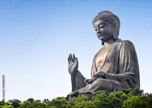 Leinwand Poster Tian Tan Buddha in Lantau