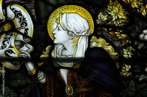 Canvas Print Mary Magdalene in stained glass