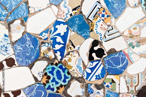 Tablou Canvas Mosaics Antonio Gaudi