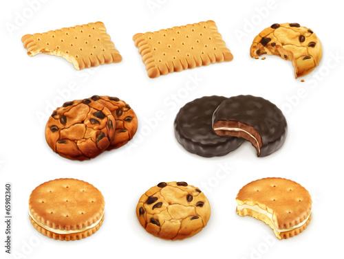 Obraz na płótnie Cookies vector set
