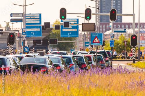 Fototapeta premium Godziny szczytu w Amsterdamie w Holandii