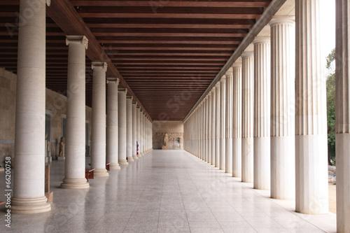 Athènes, la bibliothèque Fotobehang