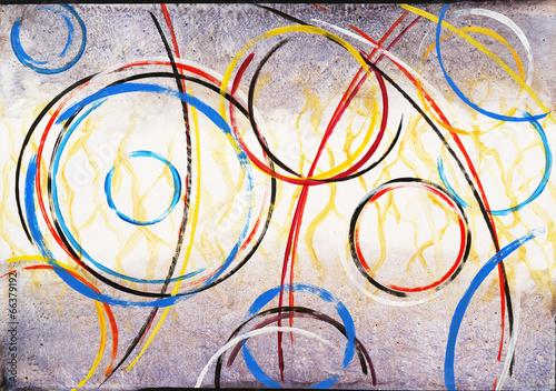 Obraz premium Malarstwo abstrakcyjne - Ringer # 3
