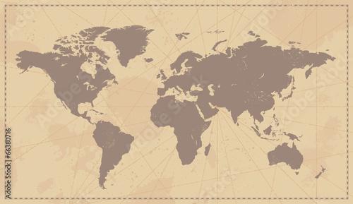 Valokuva Old Vintage World Map