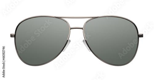 Fotografiet Aviator sunglasses isolated on white background