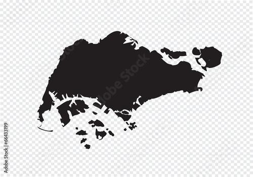 Canvas Print Singapore map