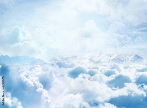Fototapeta Niebo ponad chmurami z widokiem XXL