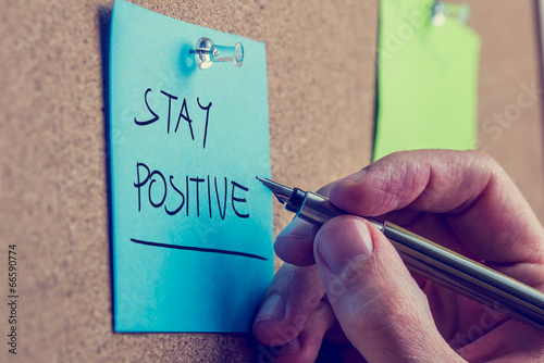 Obraz na plátně Zůstaň pozitivní