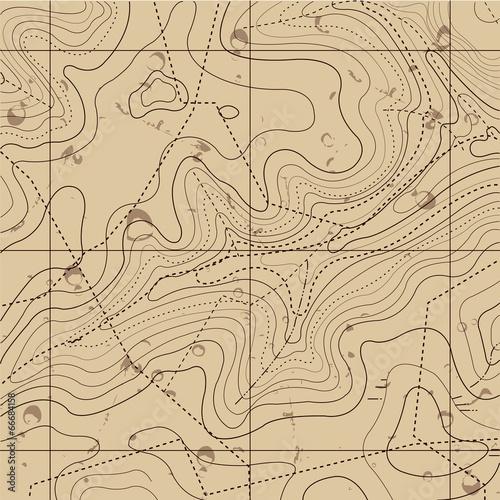Mapa retro streszczenie tło topografii
