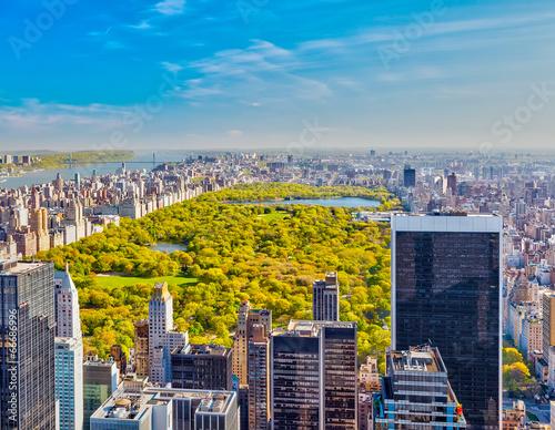 Blick auf den Central Park, New York Fototapete