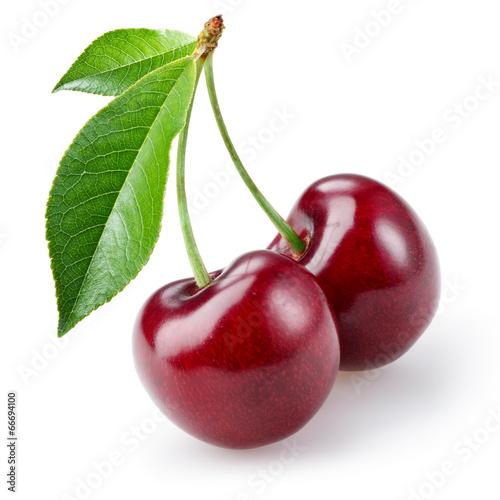 Fotografia Cherry isolated on white background