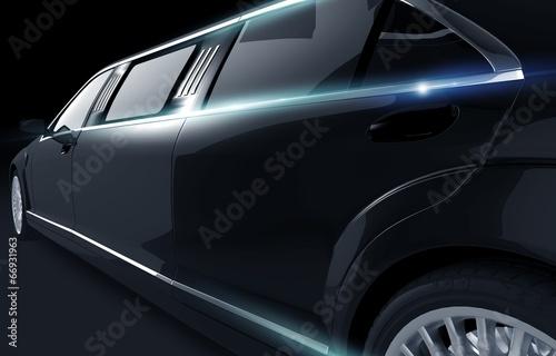 Fotografia Black Shiny Limousine