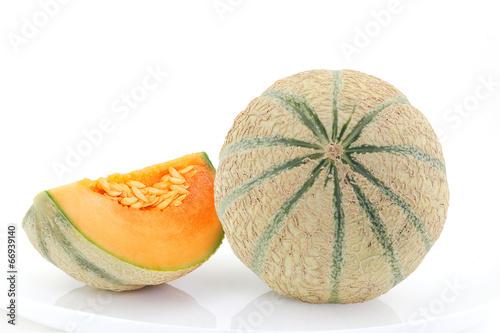Canvas Print melon frais avec quartier