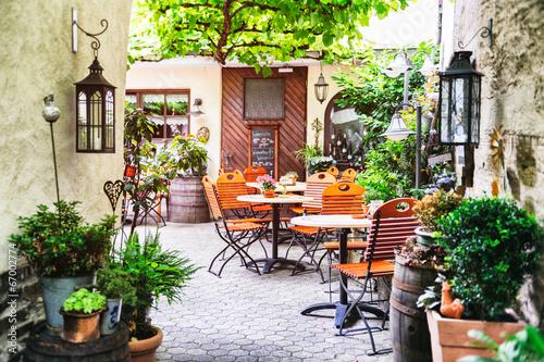 Sommer-Café-Terrasse Fototapete