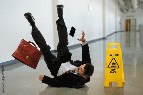Billede på lærred Businessman Falling