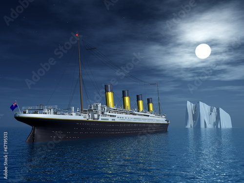Carta da parati Titanic and Iceberg