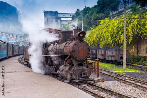 Fototapeta premium pociąg parowy