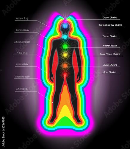 Obraz na płótnie auras and chakras