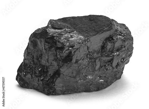 Canvas Print Coal Piece
