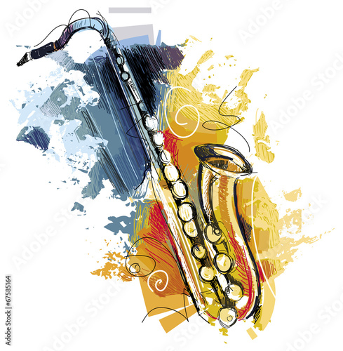 Canvas Print Artful Sax