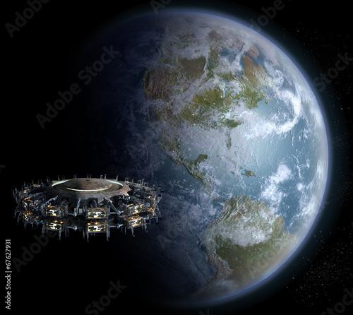 фотография Alien UFO motherships invasion nearing Earth