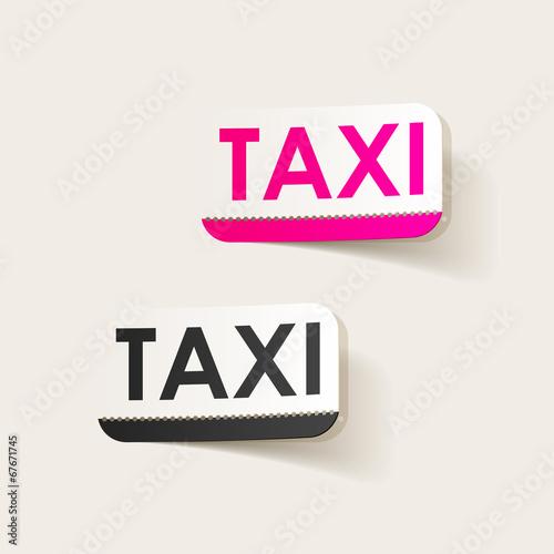 realistic design element: taxi Tapéta, Fotótapéta