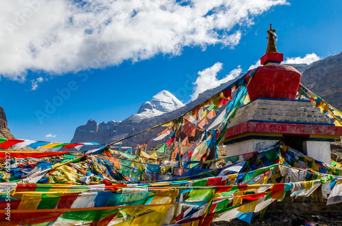 Photo Tibet. Mount Kailash. South face.