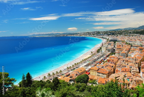 Canvas-taulu vieux Nice et la promenade des anglais