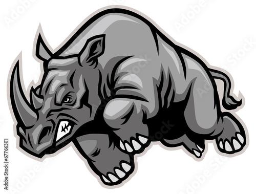 Photo Charging rhino