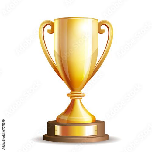 Canvas Print Golden trophy cup