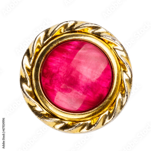 Photographie Old gold and red colors brooch